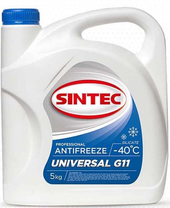 Антифриз Sintec Universal G11, цвет: синий, 5 кг антифриз sintec euro g11 зеленый 1 кг