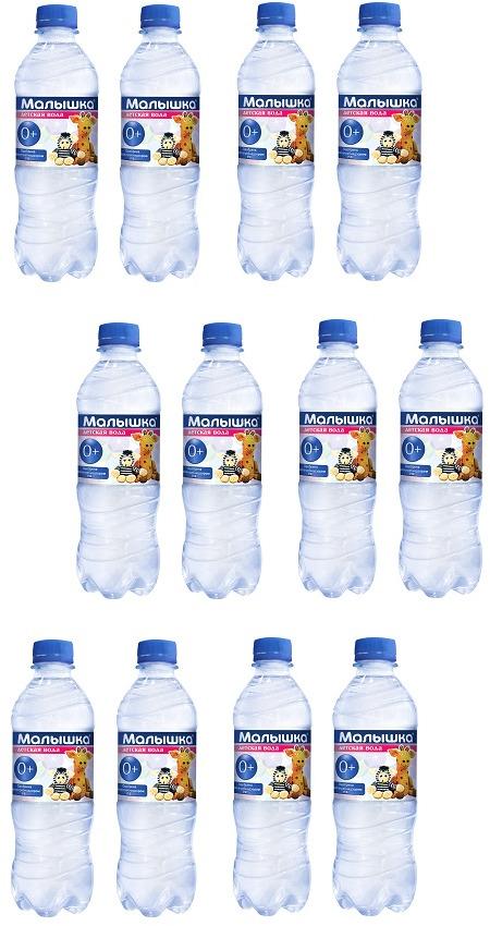 Вода минеральная природная питьевая столовая негазированная Малышка, 500 мл х 12 шт