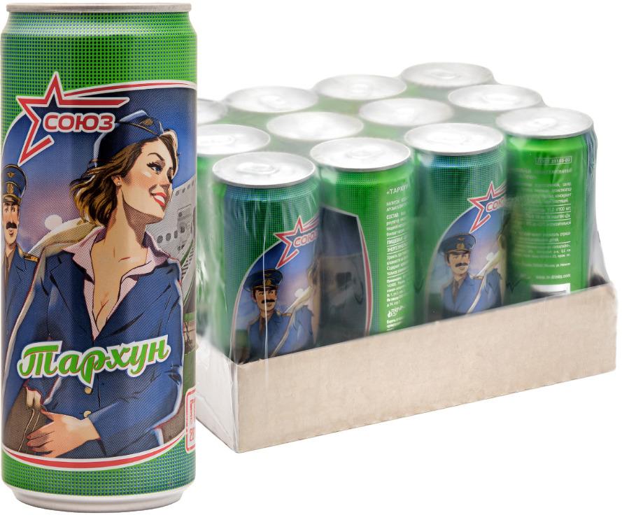 Напиток безалкогольный сильногазированный ароматизированный Союз Тархун, 330 мл х 12 шт союз тархун напиток безалкогольный сильногазированный 0 33 л