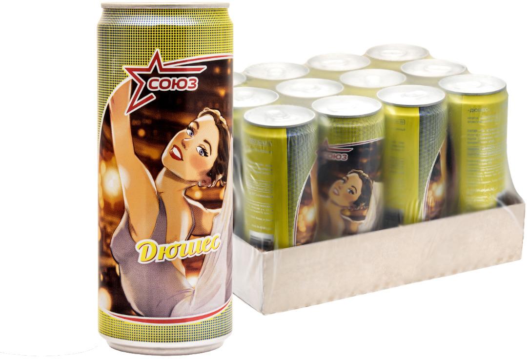 Напиток безалкогольный сильногазированный ароматизированный Союз Дюшес, 330 мл х 12 шт союз тархун напиток безалкогольный сильногазированный 0 33 л