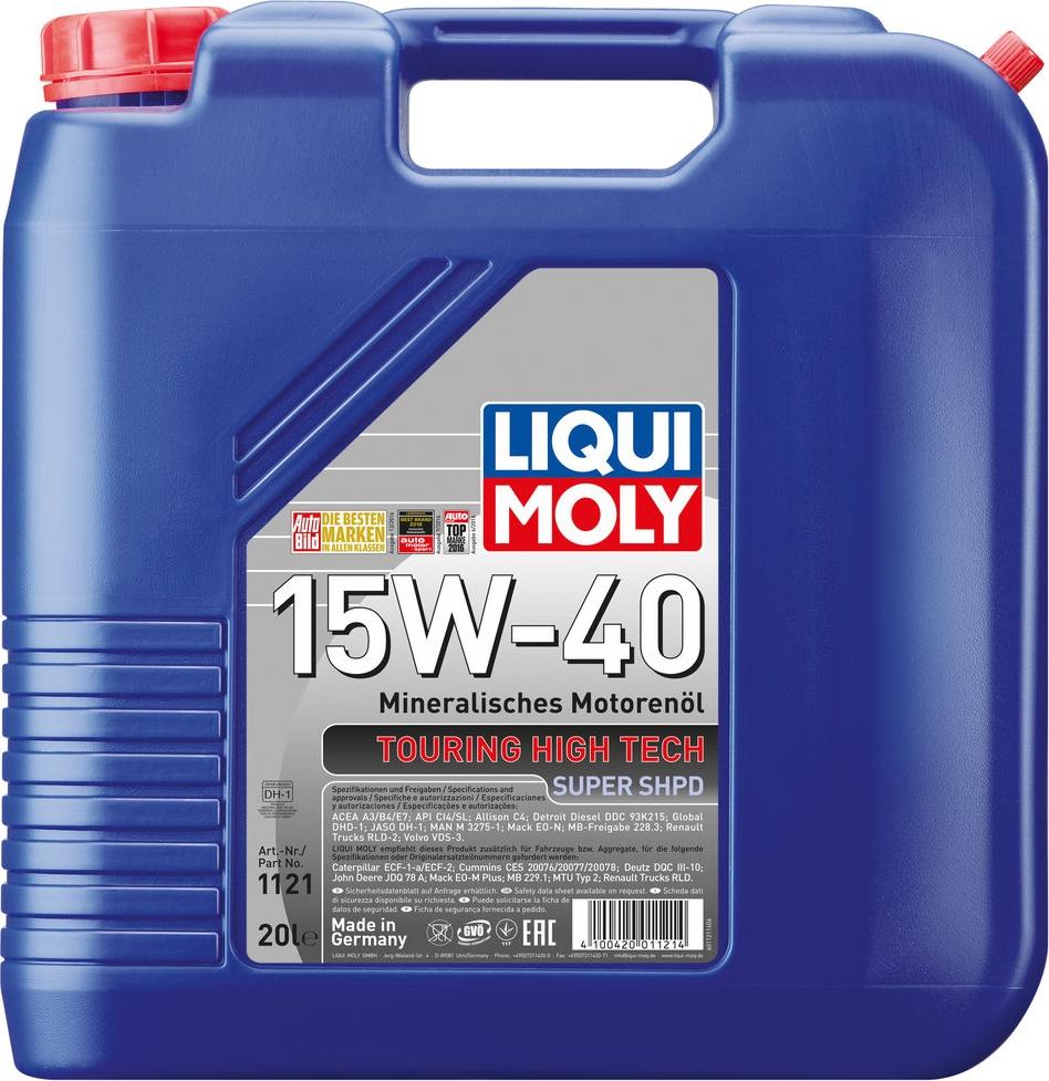 Моторное масло Liqui Moly THT Super SHPD, минеральное, 1121, 20 л цена 2017