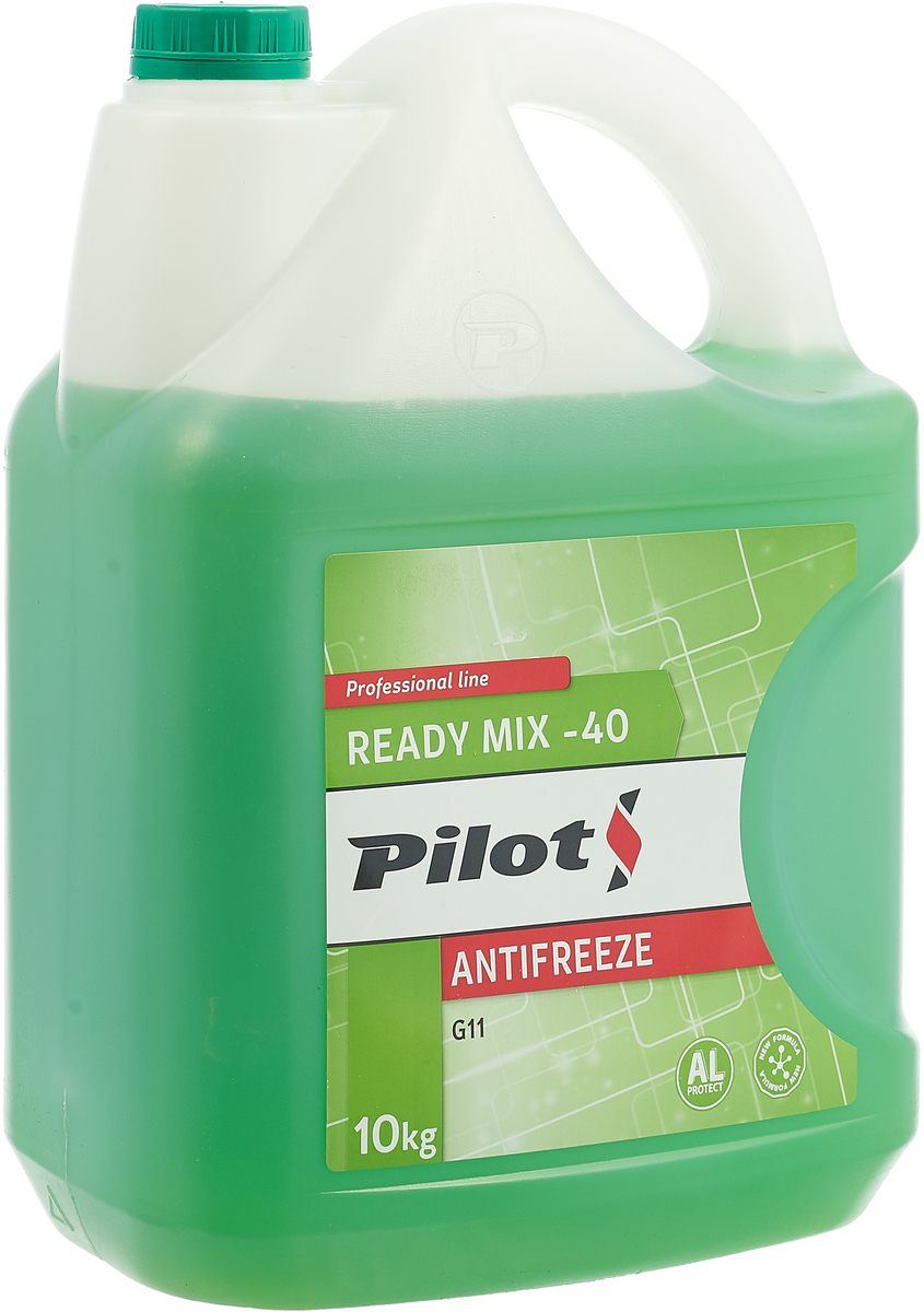 Антифриз Pilots Green Line, -40°С, цвет: зеленый, 10 кг антифриз pilots red line цвет красный 40°с 1 л