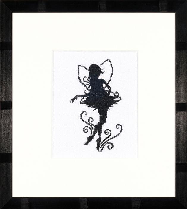 Набор для вышивания крестом Lanarte Cute Little Fairy Silhouette, 11,5 x 14 см. PN-0008195