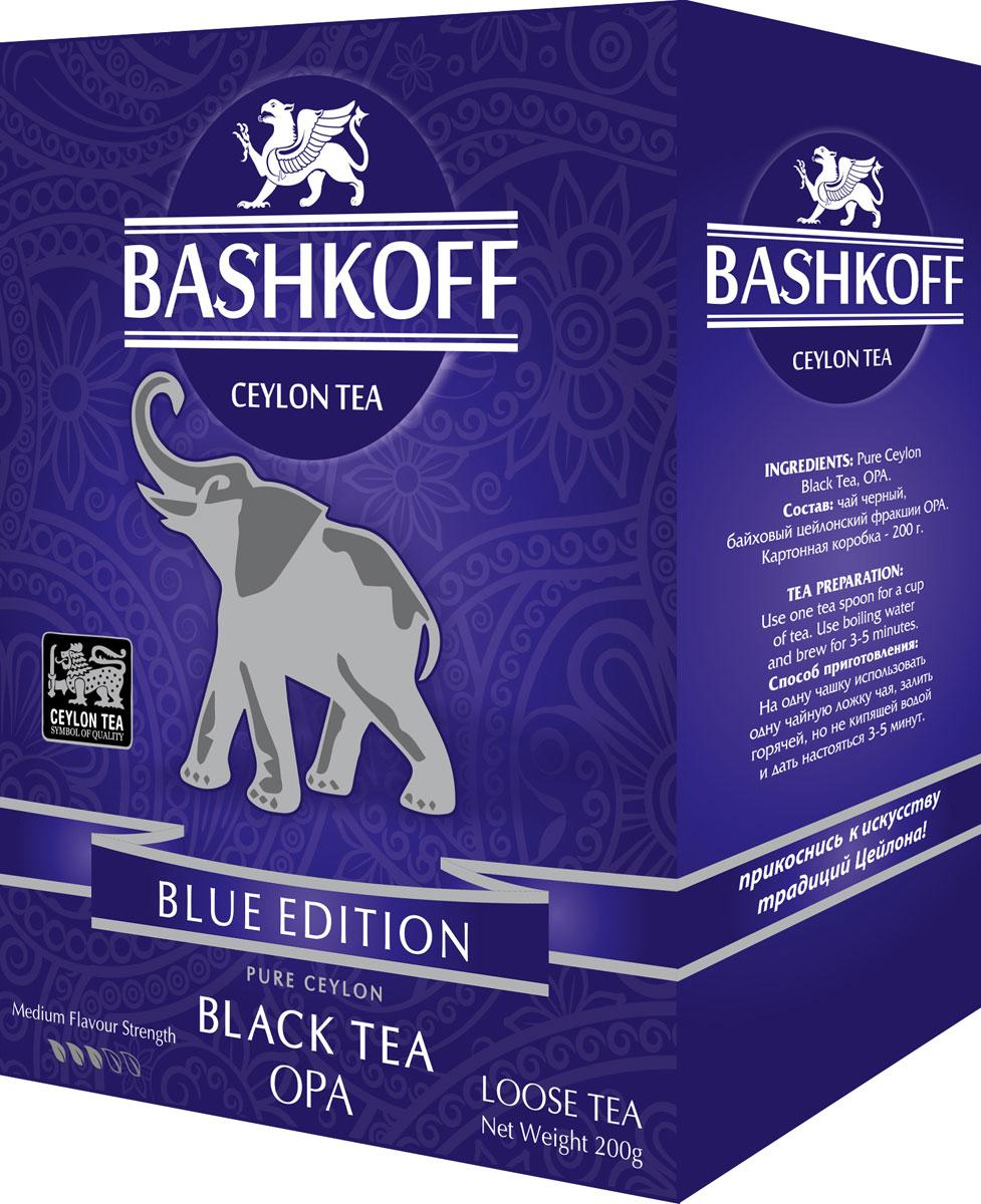 Чай черный крупнолистовой Bashkoff Tea Blue Edition OPA, 200 г чай черный листовой bashkoff tea red edition pekoe 200 г