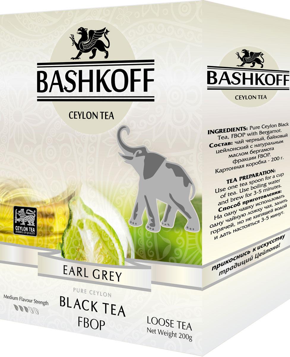 Чай черный листовой Bashkoff Tea Eаrl Grey Edition FBOP, 200 г чай черный листовой bashkoff tea red edition pekoe 200 г