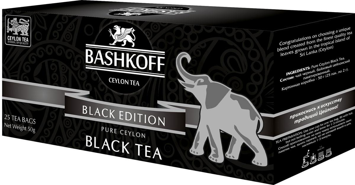 Чай черный пакетированный Bashkoff Tea Black Edition, 25 шт ae81 free shipping 250g premium real chinese tea famous black tea brand jingjinmei kongfu black tea