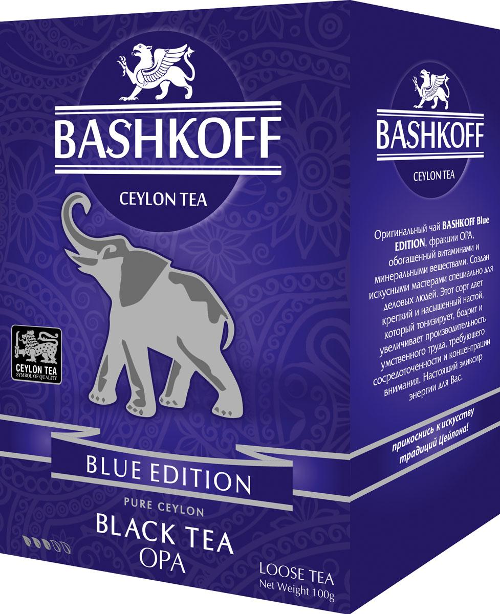 Чай черный крупнолистовой Bashkoff Tea Blue Edition OPA, 100 г чай черный листовой bashkoff tea red edition pekoe 200 г