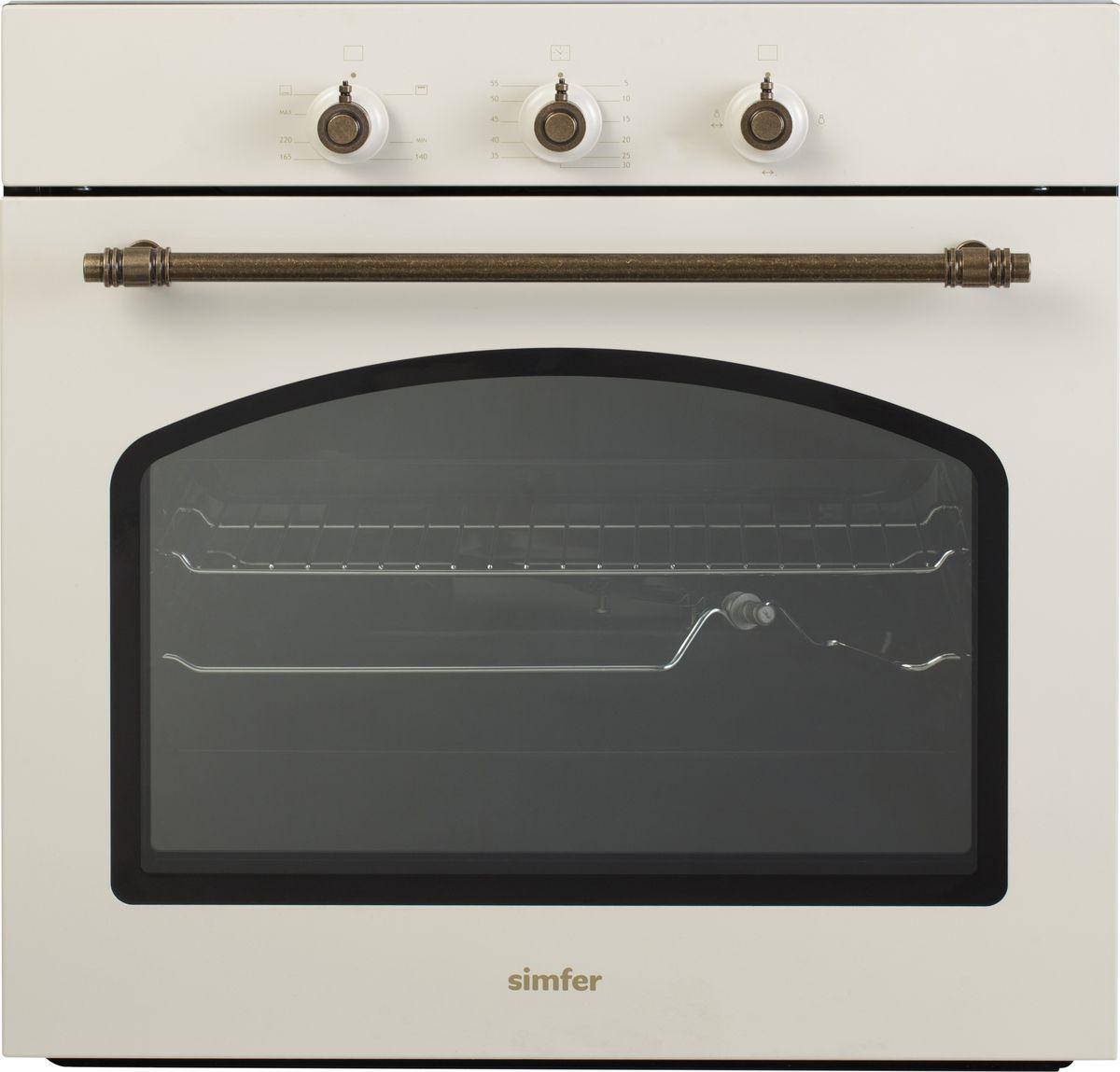 лучшая цена Духовой шкаф Simfer B6GO12017, газовый, встраиваемый