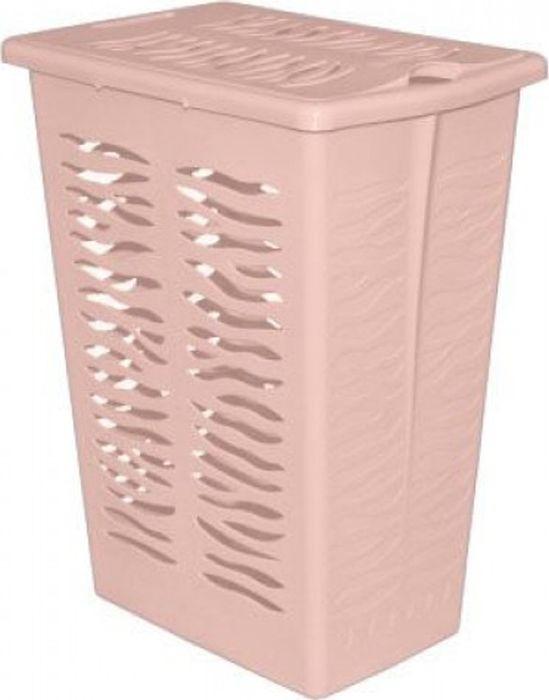Корзина для белья BranQ Aqua, цвет: йогуртовый, 30 л