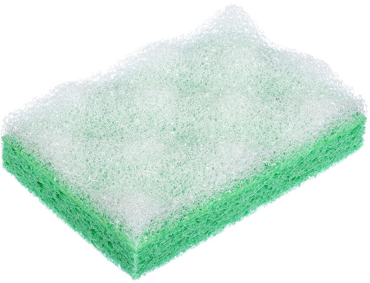 Мочалка Банные штучки, цвет: зеленый, с массажным слоем, 13 х 9 х 3,5 см курносики мочалка с массажным слоем рыбка цвет голубой белый