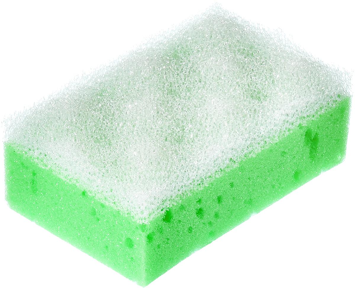 Мочалка Банные штучки, с массажным слоем, цвет: салатовый, 14 х 9 х 5 см мочалка банные штучки 10 х 7 5 х 17 см