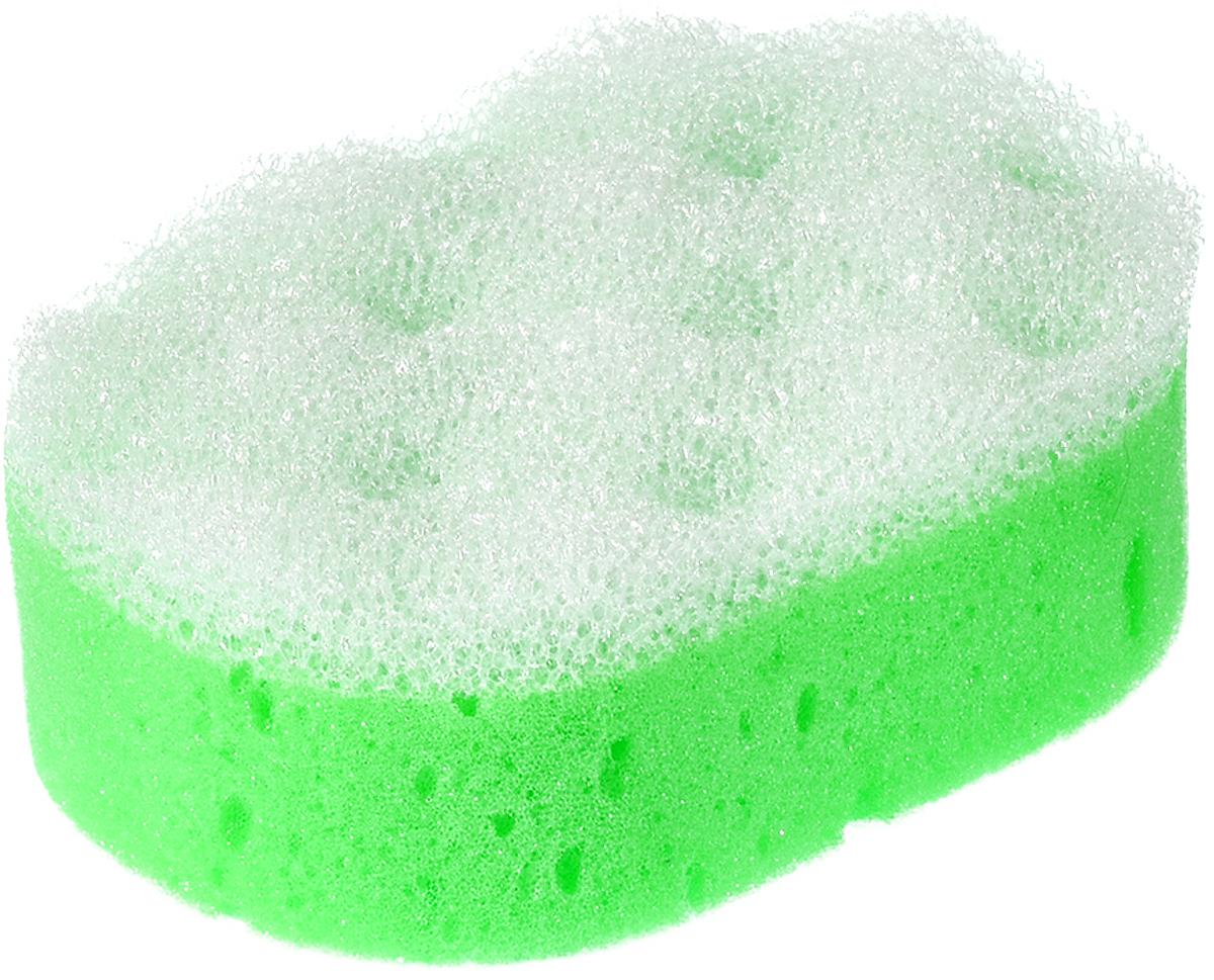 Мочалка Банные штучки 32604, салатовый, 14х9.5х5 см мочалка банные штучки цвет зеленый с массажным слоем 13 х 9 х 3 5 см