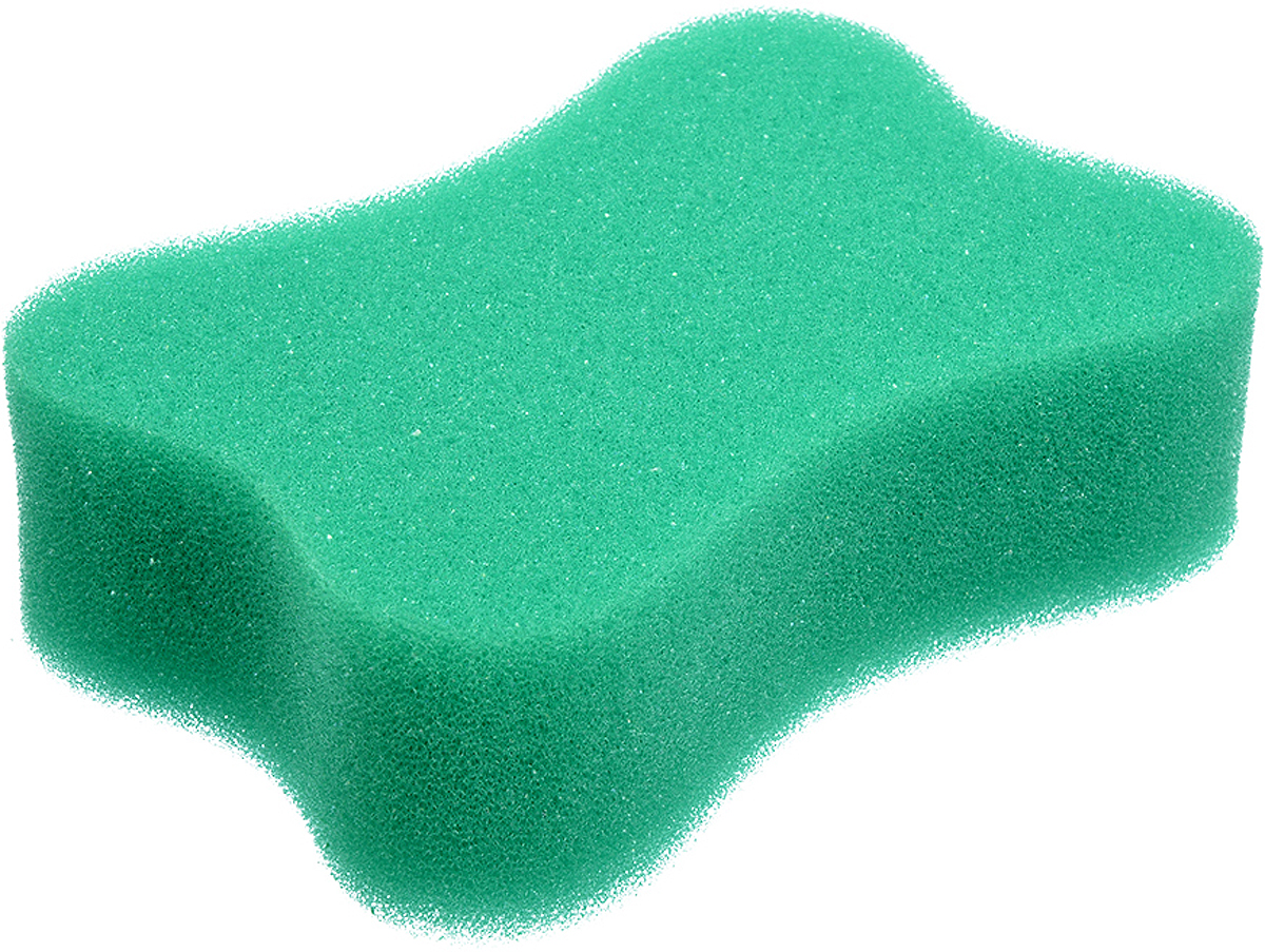 Мочалка Баннные штучки, цвет: зеленый, 13 х 9 х 4 см мочалка банные штучки цвет зеленый с массажным слоем 13 х 9 х 3 5 см