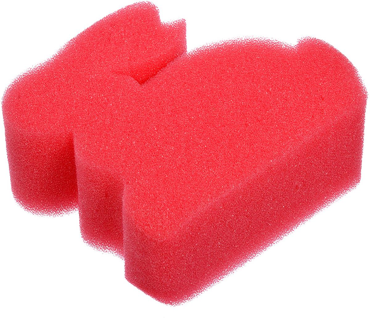 Мочалка Баннные штучки Зайчик, цвет: красный, 12 х 10,5 х 4 см мочалка баннные штучки цвет красный 75 х 14 см