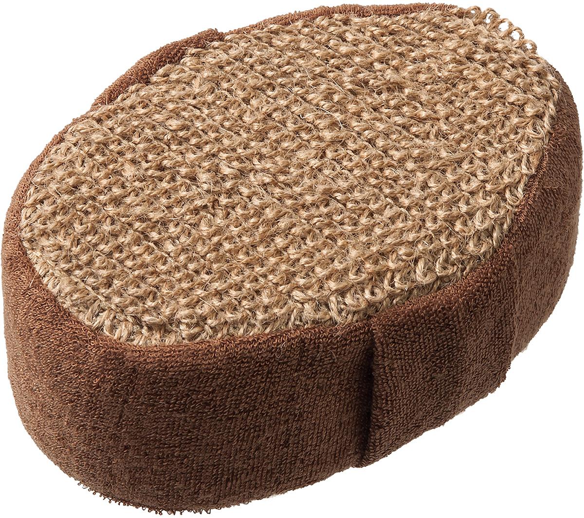 Мочалка Банные Штучки, 40360, коричневый, 10 х 15 х 5 см мочалка банные штучки 10 х 7 5 х 17 см