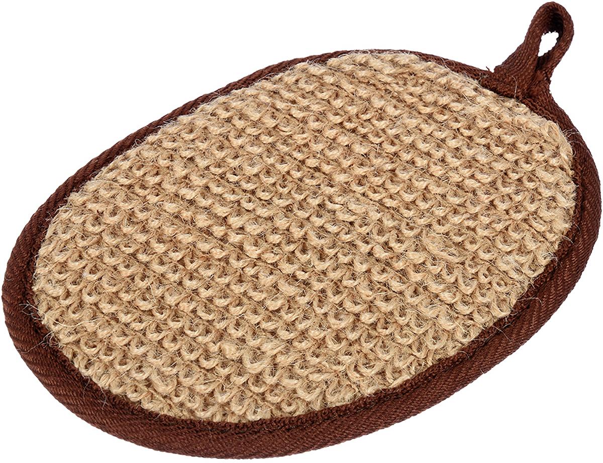 Мочалка Банные штучки, цвет: коричневый, 11 х 16 см мочалка из сизаля банные штучки 40057