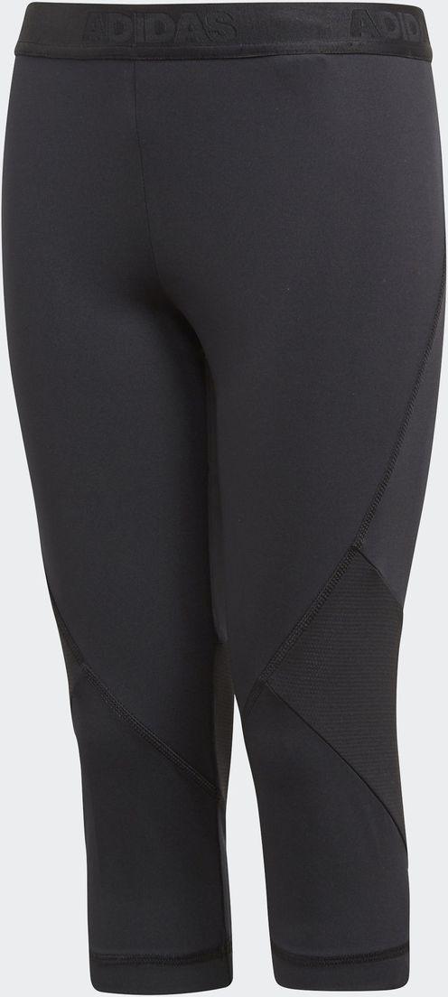 Леггинсы для девочки Adidas Yg Ask Spr 3/4, цвет: черный. CF7210. Размер 116 леггинсы для девочки acoola ultramarine цвет темно голубой 20240160016 600 размер 116
