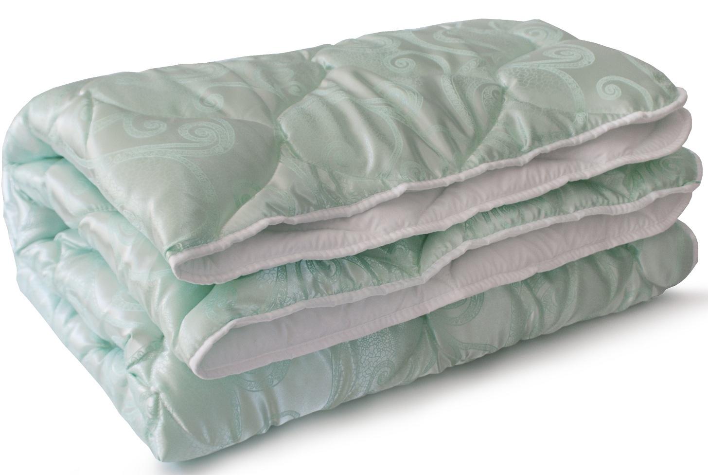 Одеяло Мягкий Сон Версаль стеганое, цвет: мятный, 200 х 220 см цена