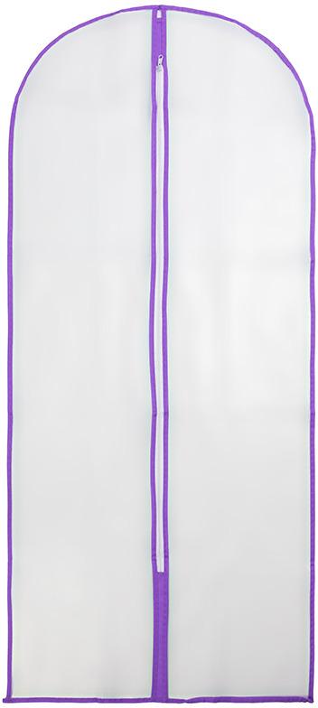 Чехол для одежды EL Casa, подвесной, цвет: сиреневый, 60 х 137 см. 371126 чехол для одежды el casa подвесной цвет сиреневый 60 х 137 см 371126