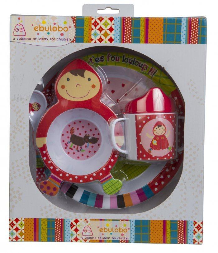 Набор посуды для кормления Ebulobo Красная шапочка, 4 предмета