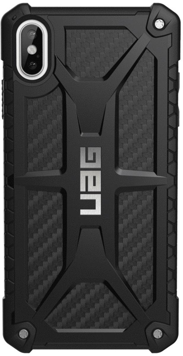 Защитный чехол UAG Monarch для iPhone XS Max, цвет: карбон