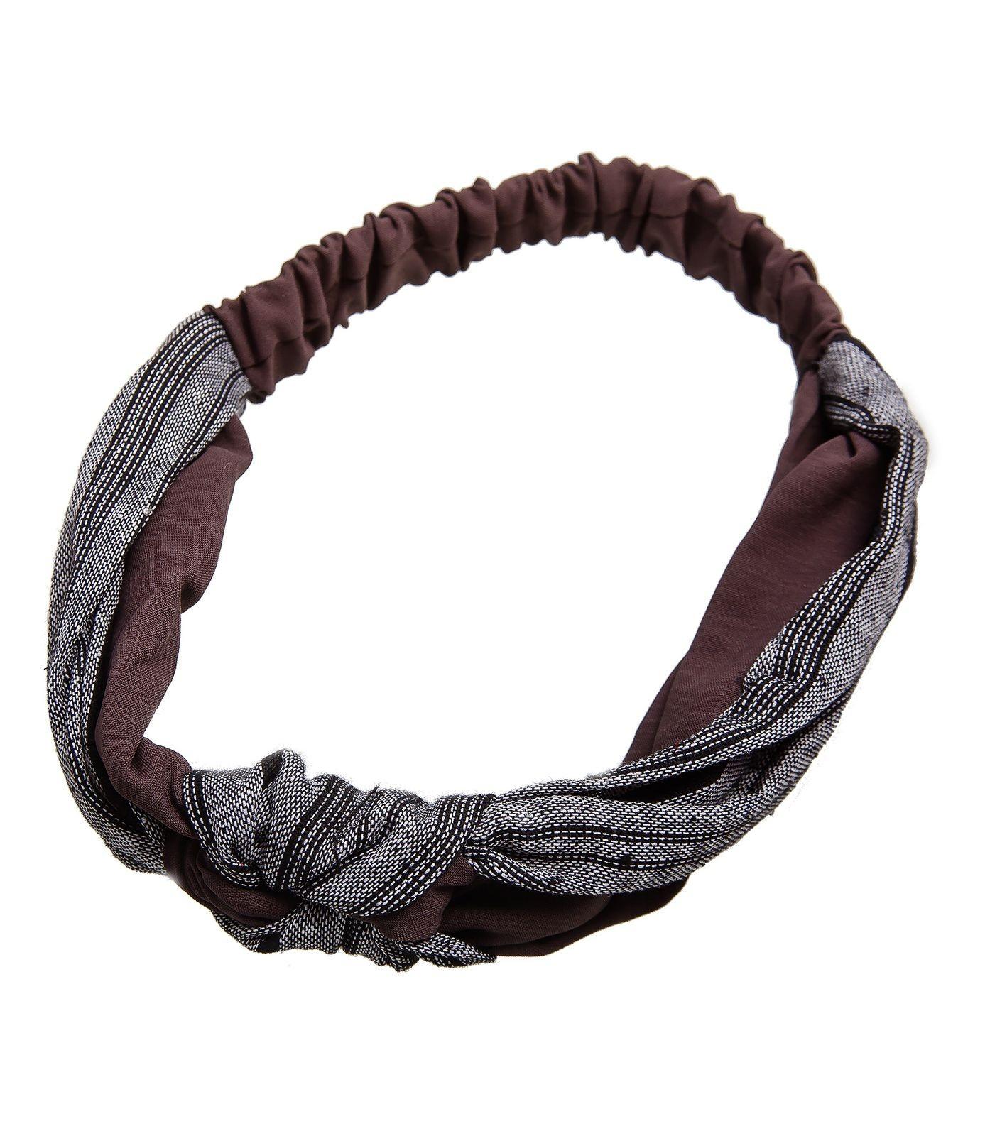 Повязка Kameo-bis, коричневый, серый, 46 х 7 см, AH810044AH810044Размер 46 х 7 см. Растягивается. Состав: текстиль
