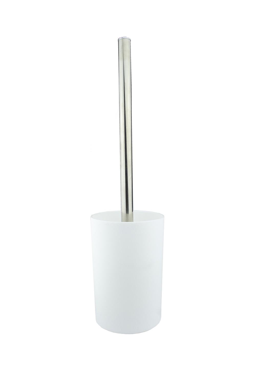 Ершик для унитаза PROFFI Ершик с ручкой для мытья унитазов в комплекте с чашей, цвет белый, материал - полипропилен, PH6467, белый