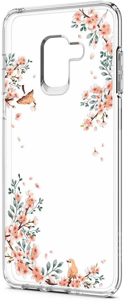 Защитный чехол Spigen Liquid Crystal Blossom Nature для Samsung Galaxy A8 (2018) sva liquid crystal lt3232 main board 5800 a8m61a m010 screen lc320wxn