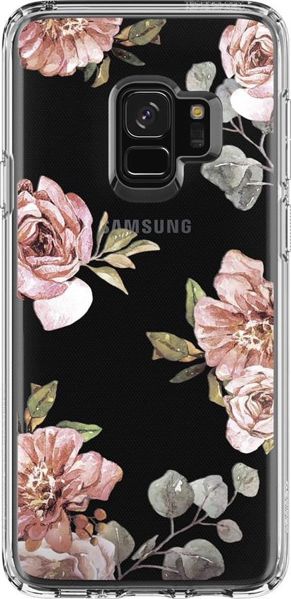 Защитный чехол Spigen Liquid Crystal Blossom Flower для Samsung Galaxy S9 sva liquid crystal lt3232 main board 5800 a8m61a m010 screen lc320wxn
