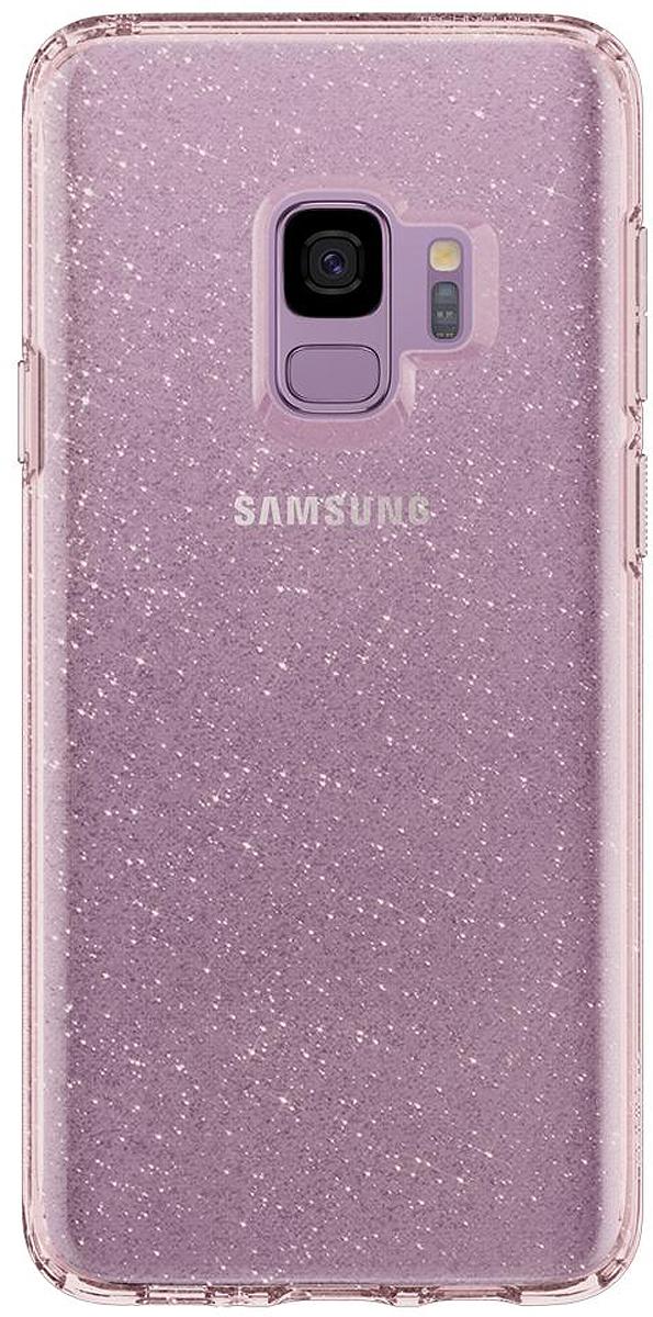 Защитный чехол Spigen Liquid Crystal Glitter Rose Quartz для Samsung Galaxy S9 sva liquid crystal lt3232 main board 5800 a8m61a m010 screen lc320wxn