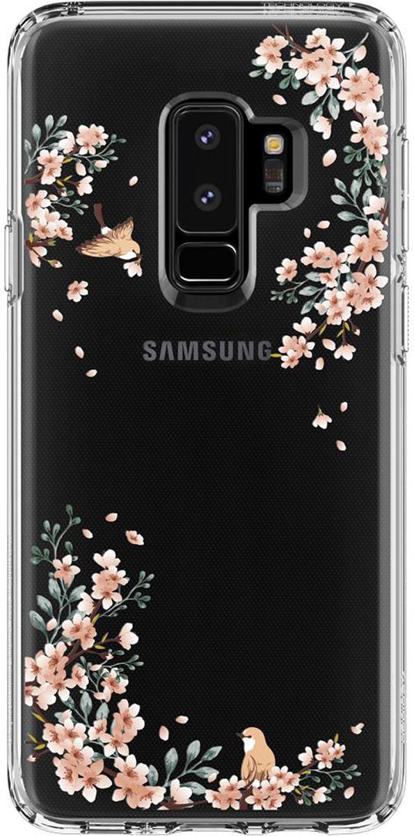 Защитный чехол Spigen Liquid Crystal Blossom Nature для Samsung Galaxy S9+ sva liquid crystal lt3232 main board 5800 a8m61a m010 screen lc320wxn
