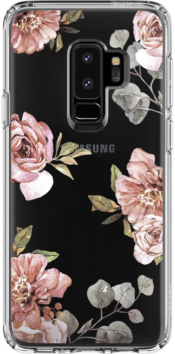 Защитный чехол Spigen Liquid Crystal Blossom Flower для Samsung Galaxy S9+ sva liquid crystal lt3232 main board 5800 a8m61a m010 screen lc320wxn