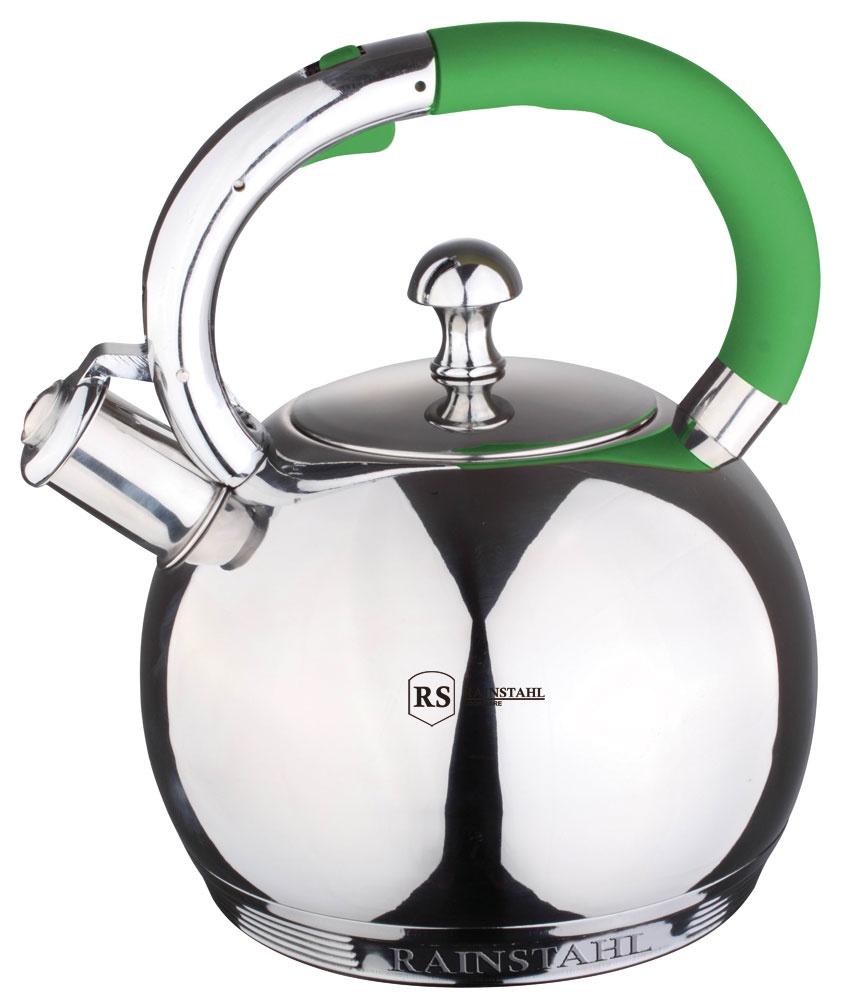 Чайник Rainstahl металлический со свистком, 3,0 литра. 7601-30RS\WK чайник rainstahl со свистком цвет белый 3 л 7540 30rs wk