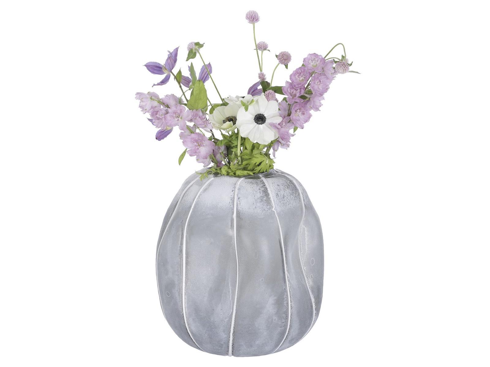 Ваза A Simple Mess Mak стеклянная, цвет: серый, высота 27 см. SM963709