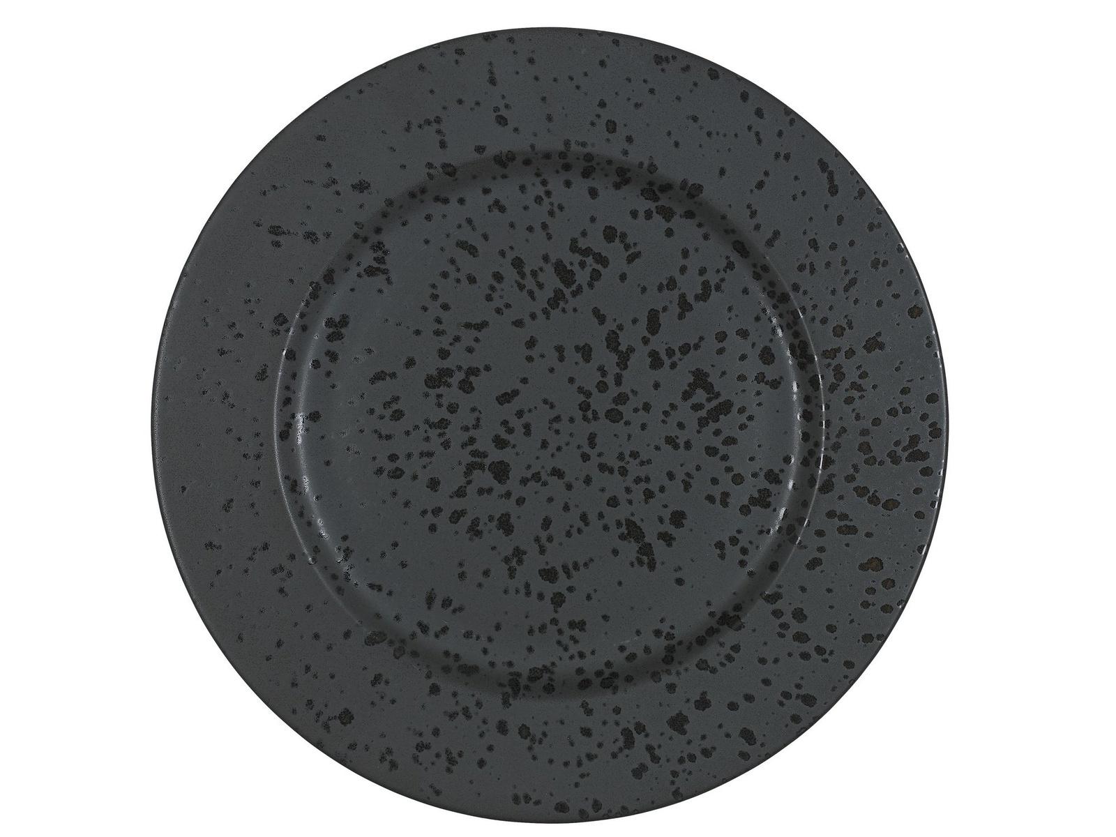 Тарелка сервировочная Bitz, цвет: черный. Диаметр 30,5 см. BT821177 тарелка сервировочная frybest bamboo цвет коричневый 30 см х 14 5 см
