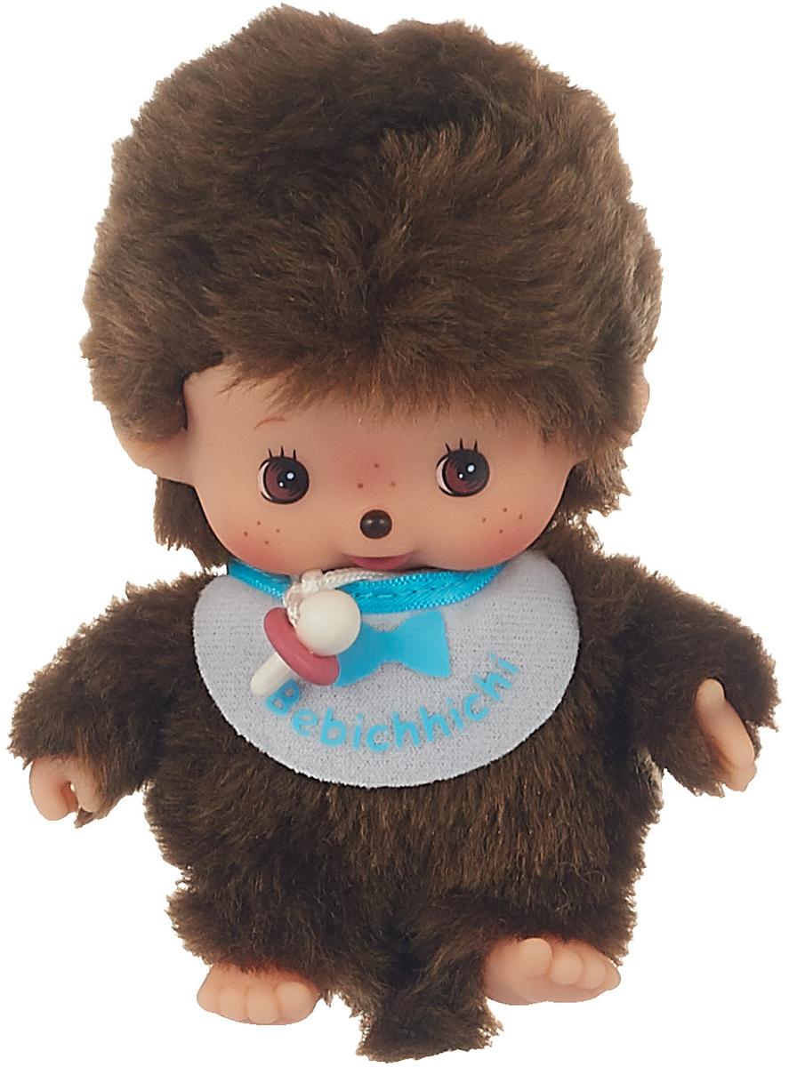 "Мягкая игрушка Monchhichi Bebichhichi ""Мальчик в голубом слюнявчике"", 15 см"