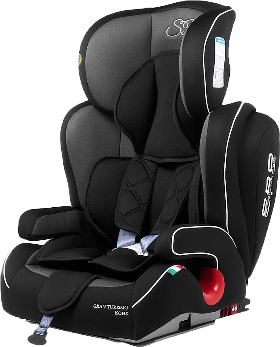 Автокресло Sweet Baby Gran Turismo SPS Isofix, цвет: серый, черный, от 9 до 36 кг автокресло sweet baby gran turismo sps isofix цвет серый черный от 9 до 36 кг