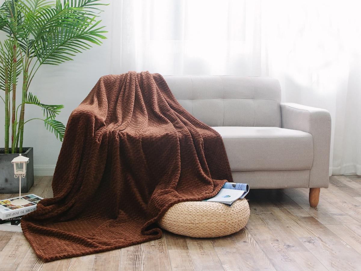 Плед Cleo Royal Plush, полутораспальный, цвет: коричневый, 150 х 200 см комплект полутораспальный cleo 212 sp