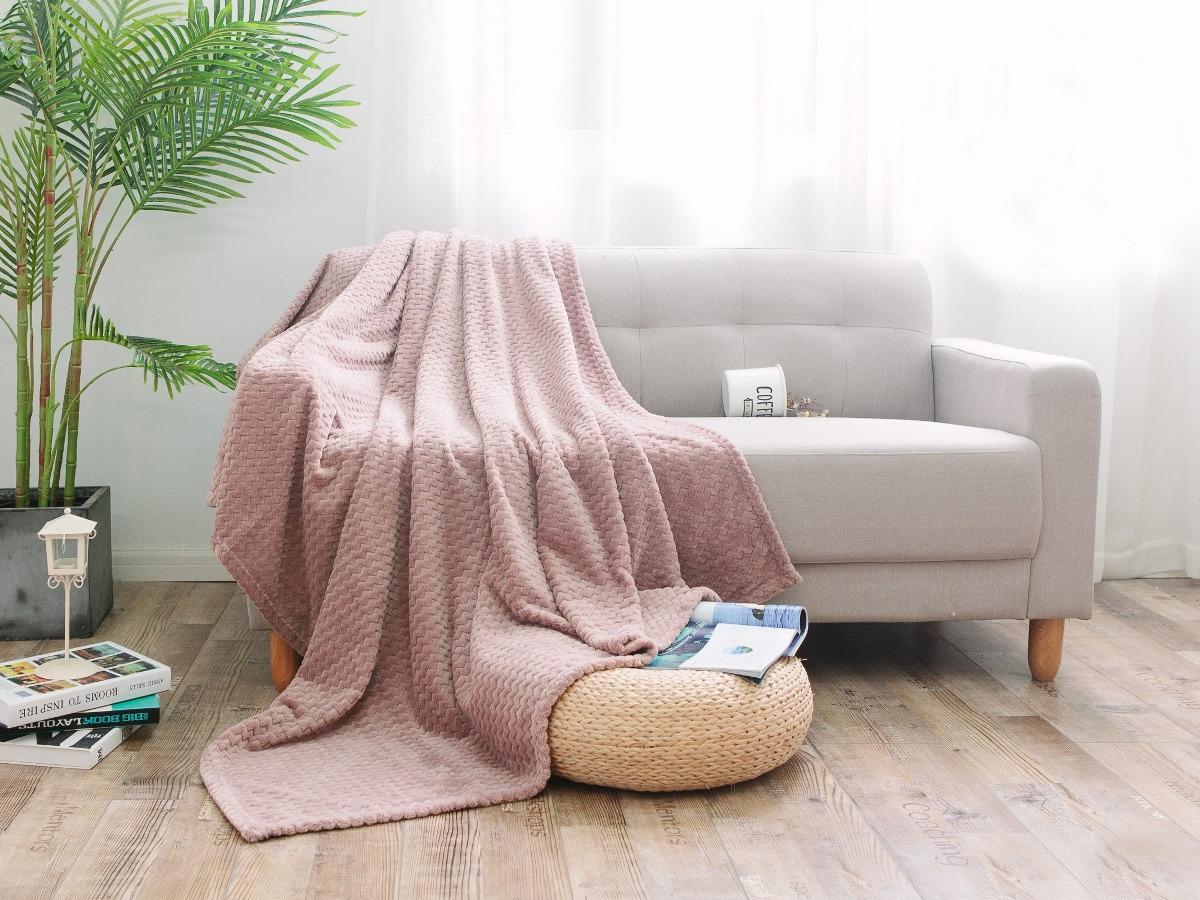Плед Cleo Royal Plush, полутораспальный, цвет: светло-розовый, 150 х 200 см плед dome kappe цвет розовый 150 х 200 см