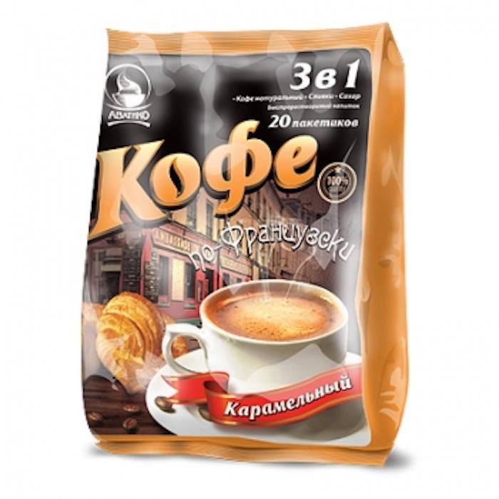 Кофе по-французски (напиток быстрорастворимый 3 в 1) мягкий