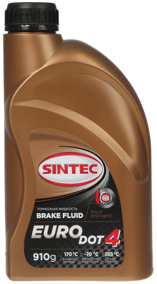 Жидкость тормозная Sintec EURO DOT-4, цвет: желтый, 910 г. 978923
