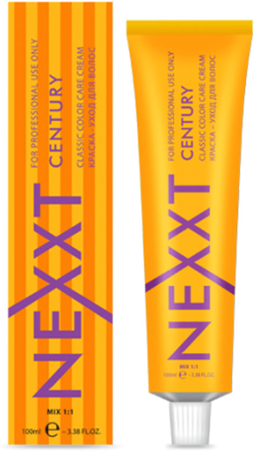 Крем-краска для волос Nexxt Professional Nexxt Classic Permanent Color Care Cream Century, оттенок №7.34 средне-русый золотисто-медный, 100 мл