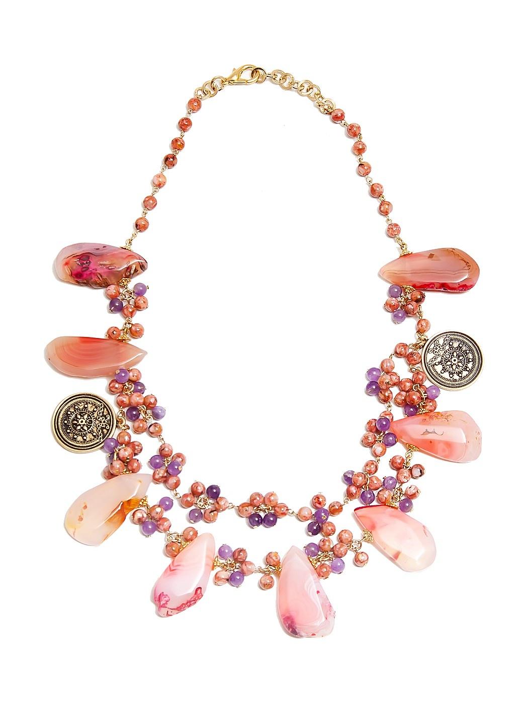 лучшая цена Колье Kameo-bis, цвет: розовый. KNC604334