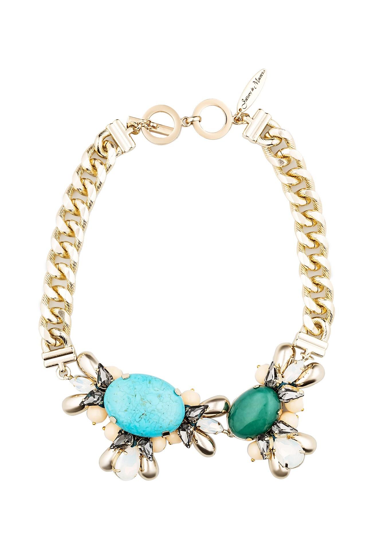 Колье/ожерелье бижутерное Kameo-bis украшения бирюза