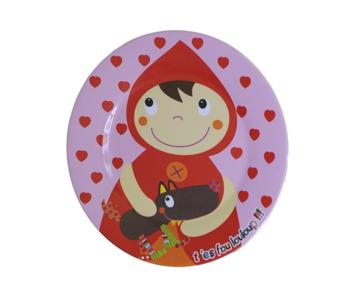 Тарелка детская Ebulobo Красная ШапочкаE21040Тарелочка полная разных цветов. Малыш будет с радостью съедать содержимое тарелки, чтобы увидеть яркую картинку на дне .