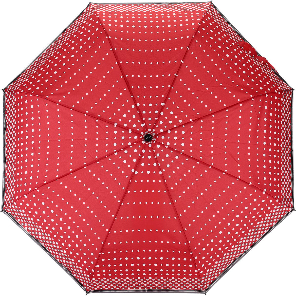 Зонт женский Doppler, цвет: красный, 3 сложения, полуавтомат. 730165PE1 зонт трость женский doppler цвет красный 714765l