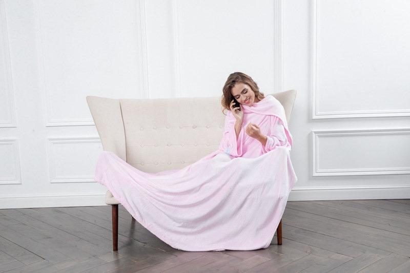 Плед с рукавами Sleepy Original, 140 х 180 см, цвет: розовый. Н17-0228