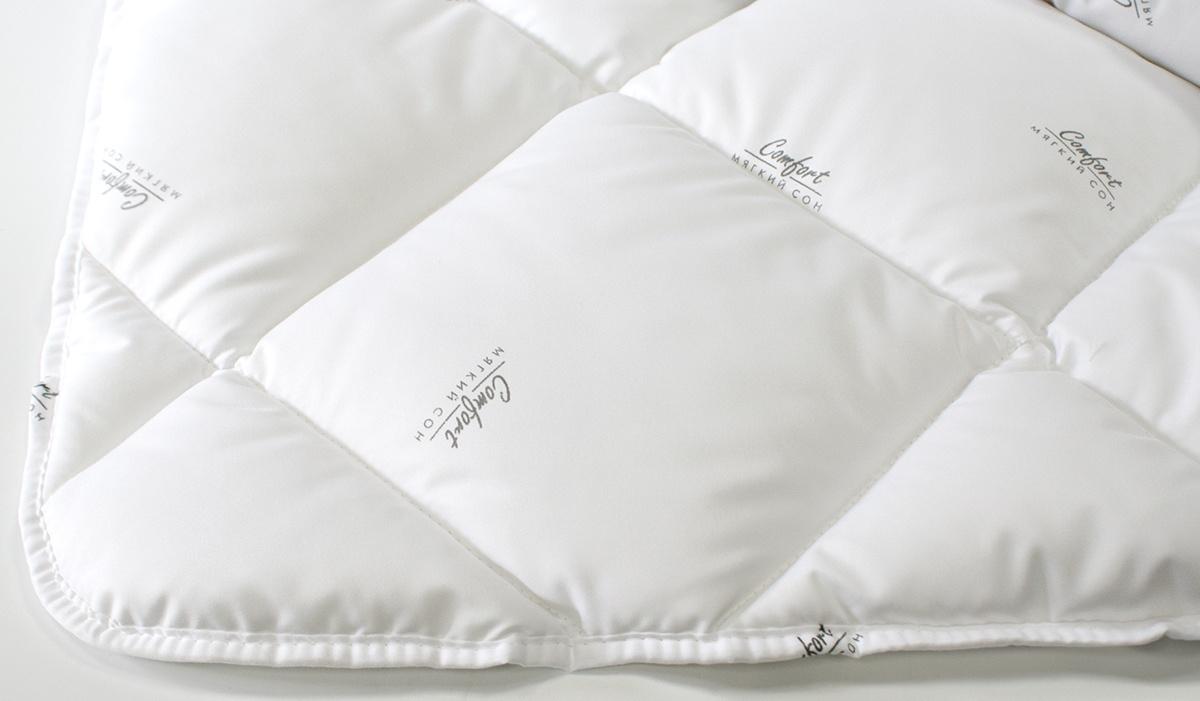 """Одеяло Мягкий Сон """"Лебяжий пух"""", 220*200 см, цвет: белый"""
