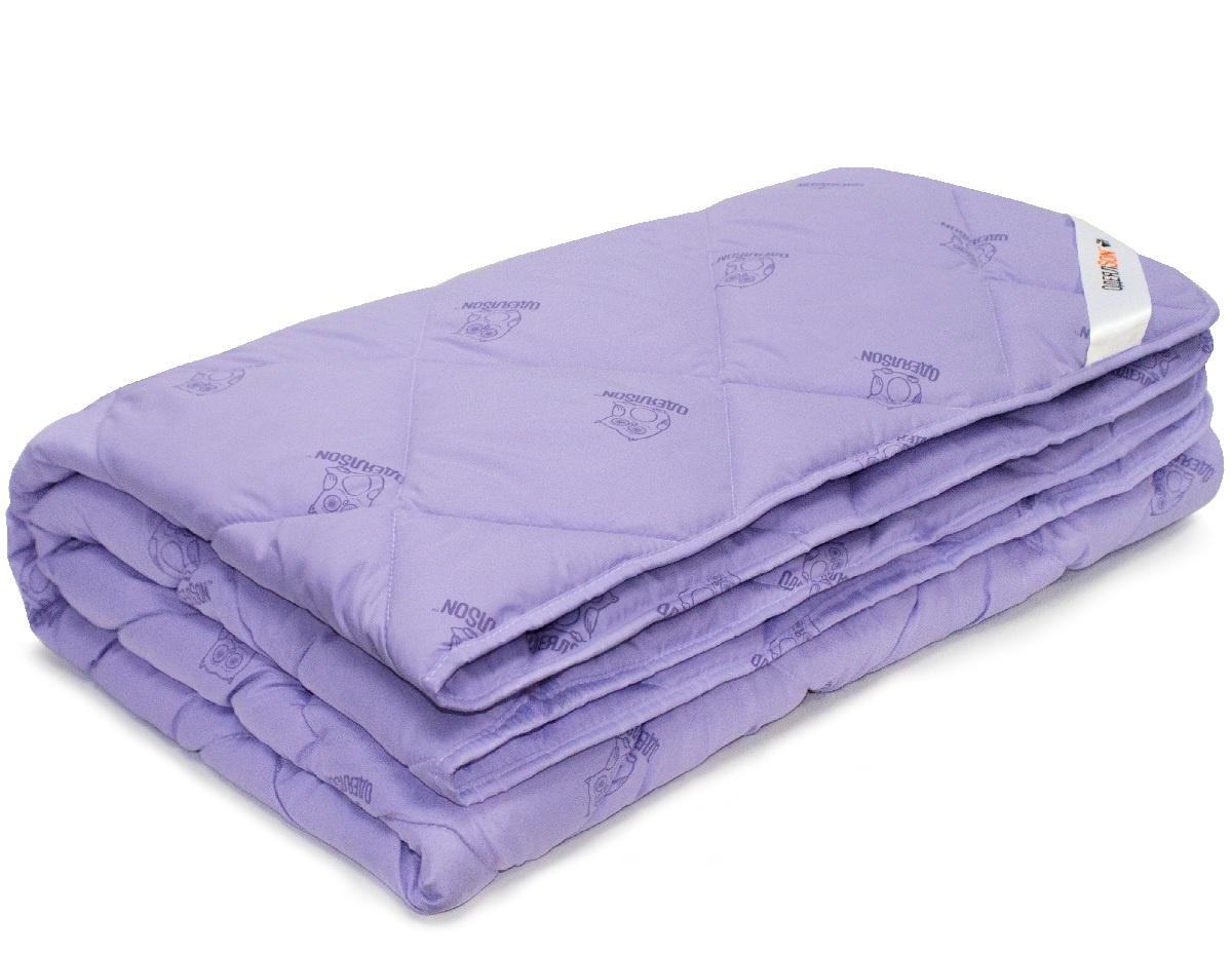"""Одеяло ОдеялSon """"Сова"""", 205*140 см, цвет: фиолетовый"""