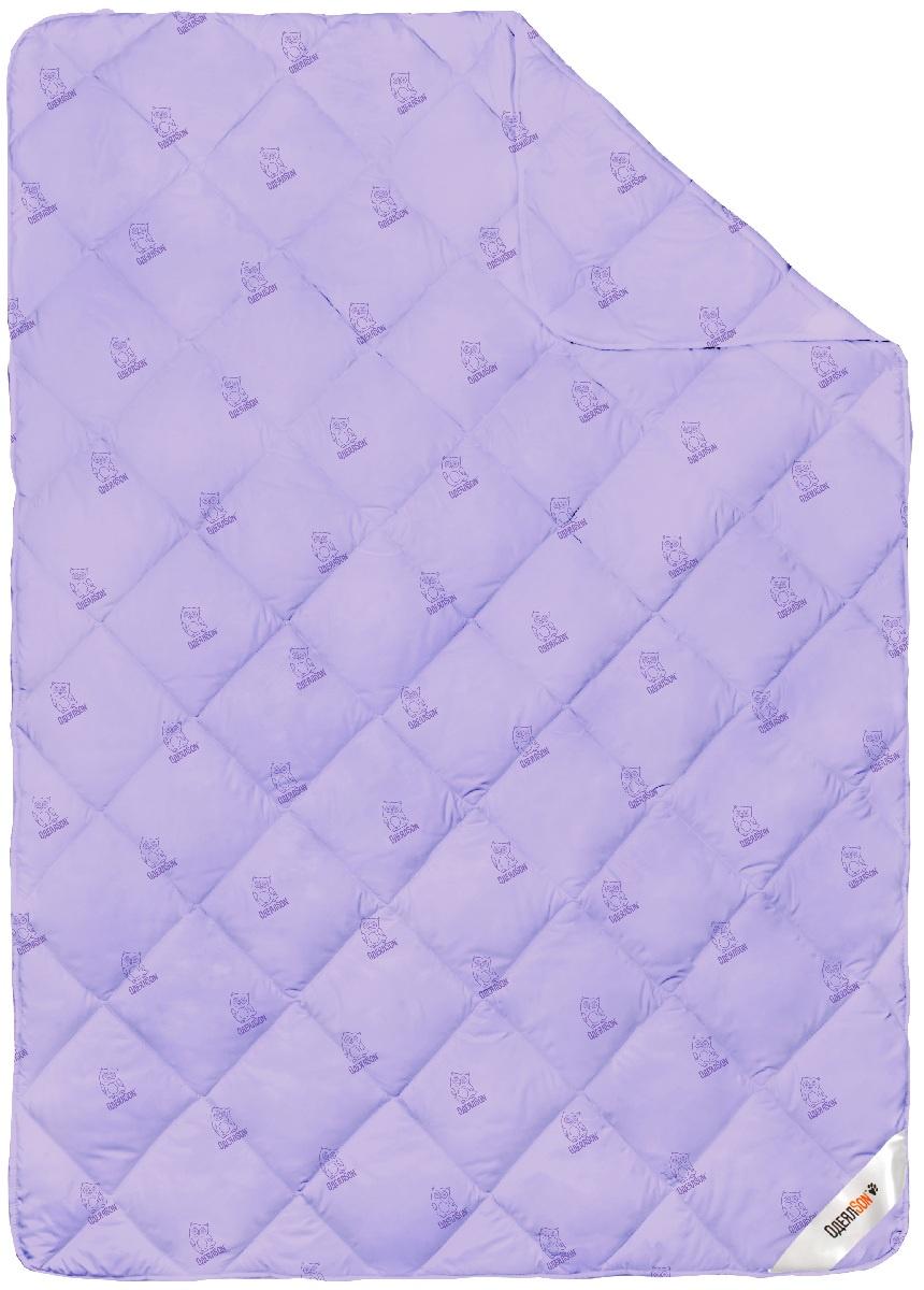 """Одеяло ОдеялSon """"Сова"""", 205*172 см, цвет: фиолетовый"""